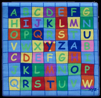 Teppich Alphabet quadratisch